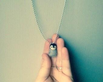 little penguin necklace / necklace little Penguin wool felted / needle felt/woolanimal/littleanimal