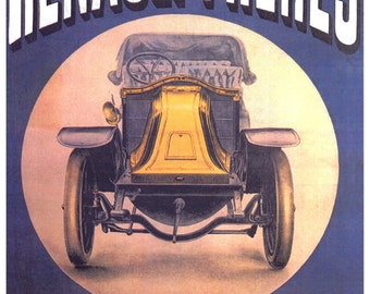 Vintage Renault Freres French Advertising Poster Print