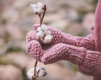 Wool mittens, knitted mittens, merino wool mittens, alpaca mittens.