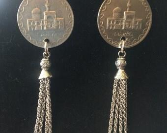 Sale -Beautiful tribal belly dance chandelier earrings
