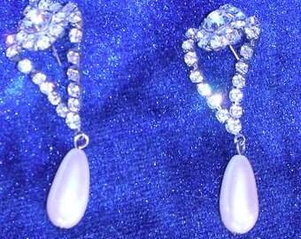 Antique Pearl Post Earrings