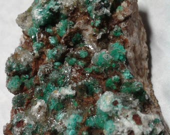 Rosasite, ankerite and gypsum