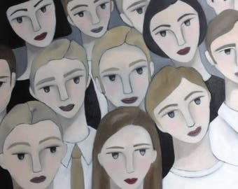 ORIGINAL paint, art, portrait, painting in oil, painted in France, hand-made, 100% made in France, CurioUS