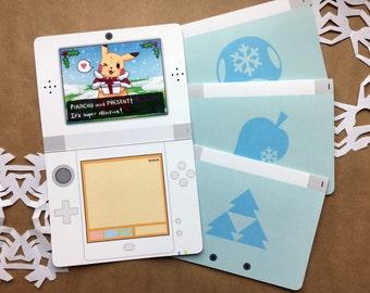 Nintendo Christmas Card | cute christmas card, geek greeting card, gamer christmas card, video game card, geek card, gamer greeting card