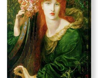 """Dante Gabriel Rossetti """"La Ghirlandata """" Canvas Box Art A4, A3, A2, A1 ++"""