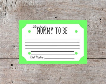 Mom to Be, Green Baby Shower Cards, Baby Shower Printables, Baby Shower Game Ideas, Games for Baby Shower, Baby Shower Ideas