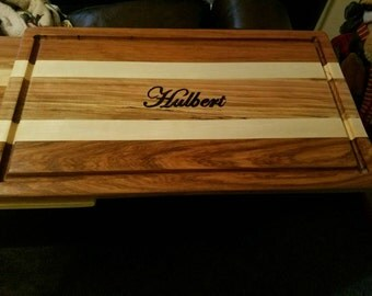 Hand made cutting boards. Custom engraved