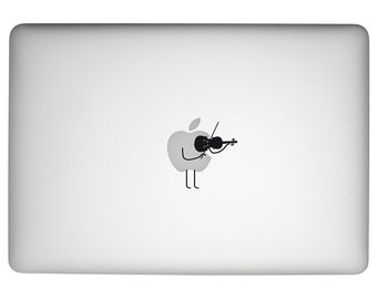 violin Macbook pro Decal, music decal, violin sticker, instrument Decal, violin Macbook sticker, violin gift, laptop music decal, violin art