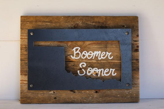 Oklahoma Decor Home Sign Boomer Sooner Reclaimed Wood And Home Decorators Catalog Best Ideas of Home Decor and Design [homedecoratorscatalog.us]