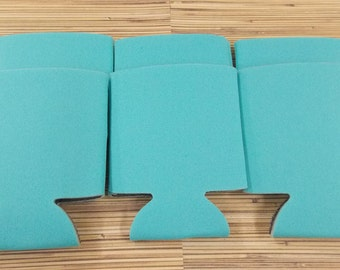 Robins Egg Blue, Blank can coolies, free shipping