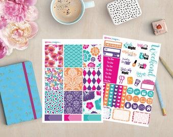 Summer Hibiscus Mini Sticker Kit | Erin Condren, Happy Planner