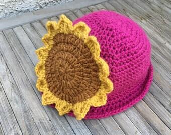 Sunflower Cloche Hat