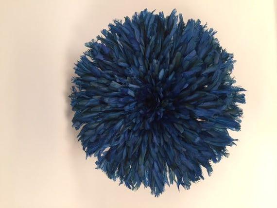 Juju Feather Blue Hat Wall Home Decor