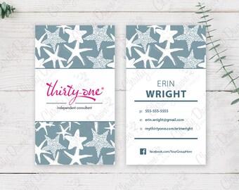 Thirty One Business Card - Starfish Splash (template)