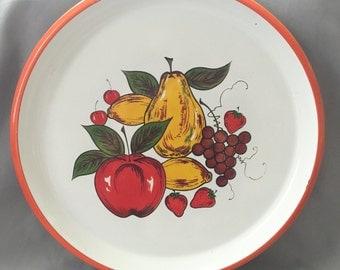 Fruit Tray // Decorative Tray // Fruit Home Decor // Vintage Tray // Plastic Tray // Vintage Kitchen // Fruit Kitchen Decor (B10)