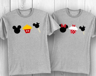 Disney Birthday Shirt with Cupcake and Mickey Ice Cream