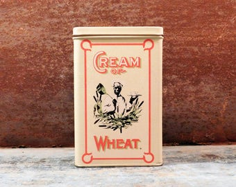 Vintage Cream of Wheat Cereal Tin for Kitchen & Home Decor