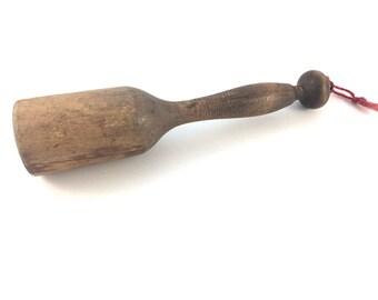 Wood Masher - Antique Masher Tool - Rustic Decor - Wooden Masher - Rustic Wood Decor - Kitchen Tool - Antique Wood Tool -Antique Wooden Tool