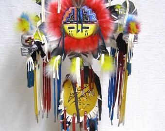 Native American Navajo Made Sunface Kachina Doll
