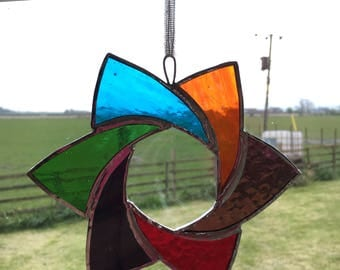 Star Stained glass rainbow suncatcher