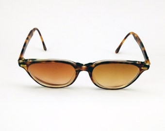 FINAL CLEARANCE - LOOK - womens sunglasses - made in italy - vintage - tortoise eyeglasses - cat eye sunglasses - hipster - oversize
