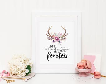 Lovely type of fearless Wall Print ***DIGITAL FILE***