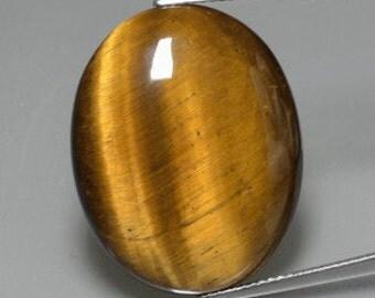 Oval Genuine Tiger Eye Cabochon (6X4mm- 20X15mm). 813-751