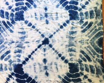 Organic Indigo Shibori Baby Blanket