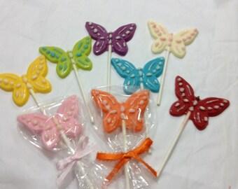 30Pcs Lollipop Butterfly Party Favors Chocolate