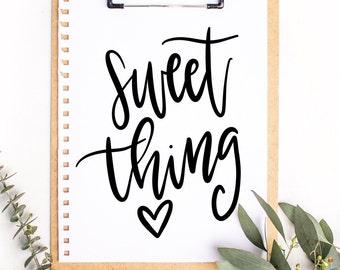 Sweet Thing Procreate Brush | iPad Pro | Calligraphy | Lettering | Procreate | Procreate Brushes