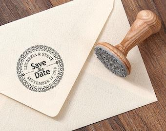SAVE THE DATE Stamp - Wedding Invite Stamp - Wedding Date Stamp - Date Stamp Gift - Custom Date Stamp - Weddings Stationery