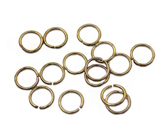 200 pcs 7mm Gold Jump Ring | Gold Jump Ring, 7mm Gold Jumpring, 7mm Jump Ring, Open Jump Ring, Brass Jump Ring