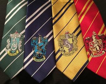 Hogwarts Tie - Gryffindor, Hufflepuff, Ravenclaw, Slytherin Pride
