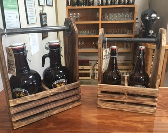 Barrel Crate Craft Beer Growler Carrier