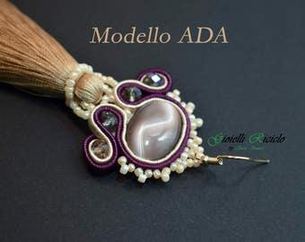 Soutache earrings-model Ada