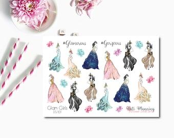 Glam Girls Planner Stickers - Glamour Girl Stickers - Matte Vinyl - Erin Condren Life Planner Stickers - EC Vertical and Horizontal