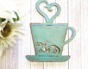 Coffee Sign - Kitchen Signs - Kitchen Decor - Kitchen Wall Decor - Shabby Chic Wall Decor - Rustic Signs, Valentines Gift, Rustic Wall Decor