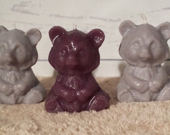 Teddy Bear Shaped Scented Soy Candles (ALL NEW)