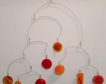 Orange Hanging Mobile