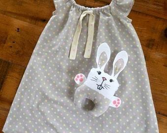 Summer Dress, Baby Girl Gift, Sundress, Summer Dress, Flutter Sleeve Dress, Polka Dot Dress, Japanese Cotton, Summer Fashion, Spots, Bunny