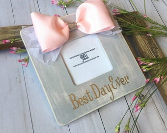 Baby Shower Gift, Gift for Her, Bridal Shower, Girl Nursery Decor, Picture Frame, Farmhouse Decor, Wall Decor, Personalized Picture