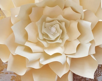 Paper flower template  PDF   file #12
