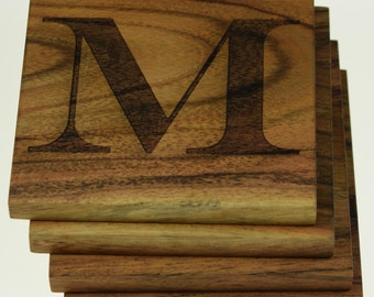 Inital or Letter Coasters (Set of 4)
