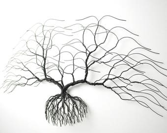 large metal wall art black wall bonsiree handmade wire tee sculpture 28