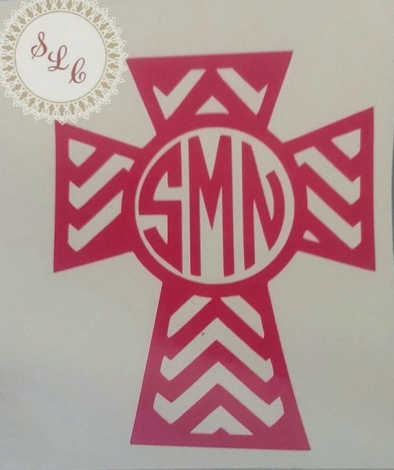 Cross decal*monogram cross