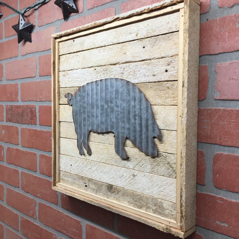 Pig Kitchen Decor: Pig Pig Decor Metal Pig Metal Pig Decor Galvanized Pig