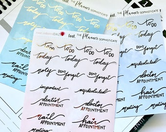 FOILED- Planner words/phrases featuring The Planner Sophisticate / planner stickers