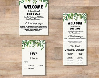 E+M Wedding Invitation Suite