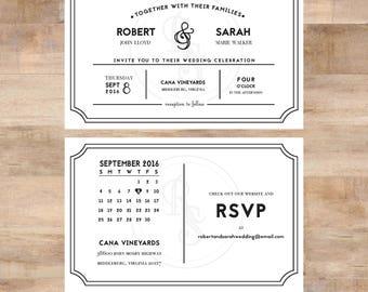 R+S Wedding Invite