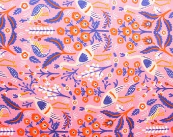 Rifle Paper Co, Les Fleurs, Tapestry Rose,RJR fabric, Cotton Steel, Pink, Cotton Fabric, Premium Fabric, Half Metre